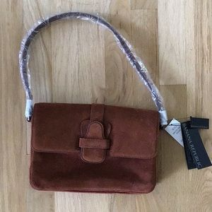 BANANA REPUBLIC suede leather shoulder bag NWT